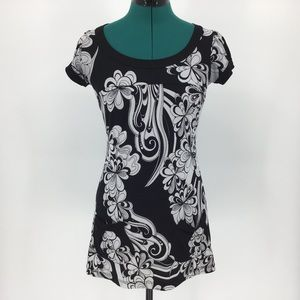 Ripe Black & White Patterned Tunic with Pockets, S